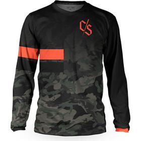 Loose Riders C/S Heritage Longsleeve Jersey Heren, zwart/oranje